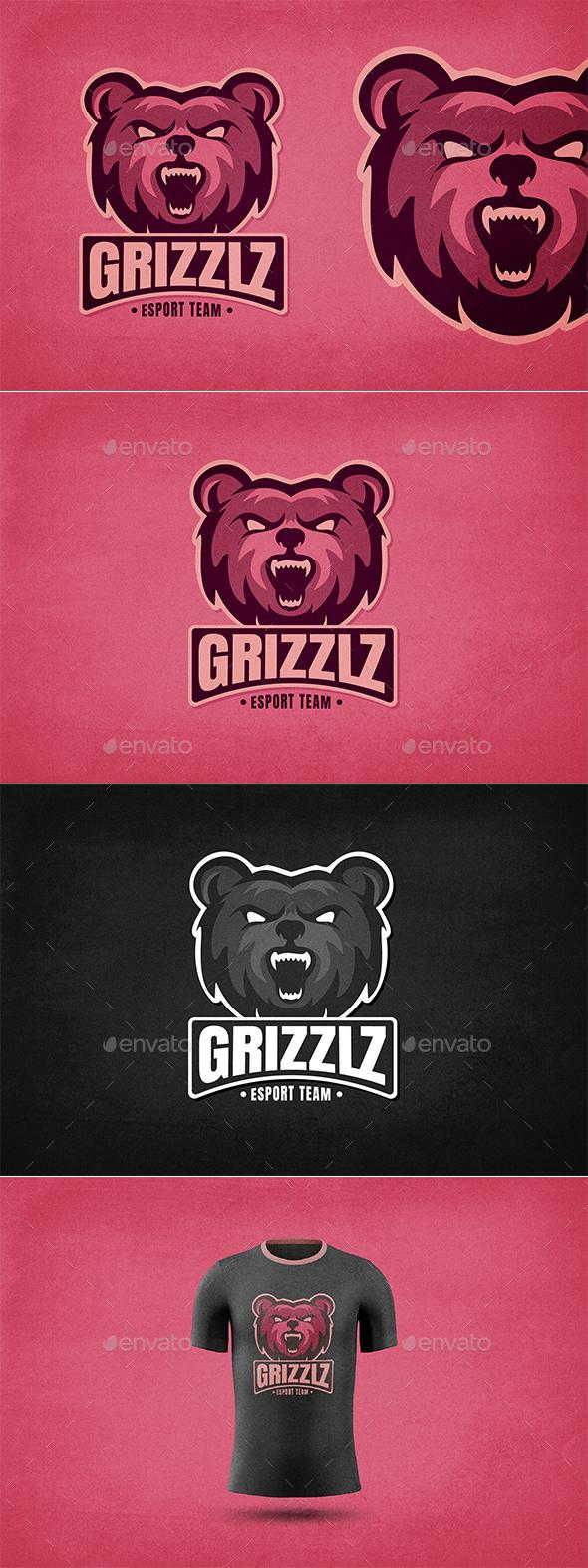 Grizzly Bear E-Sports Logo