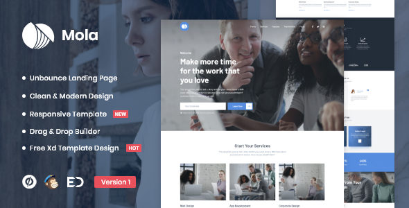 Download Mola – MultiPurpose Unbounce Landing Page Template Nulled