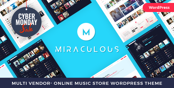 Miraculous - Multi Vendor Online Music Store WordPress Theme