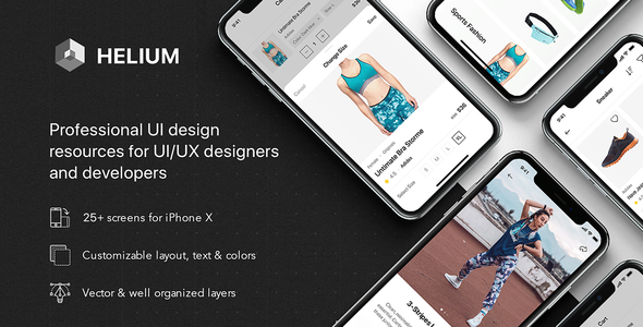 Download Helium – Fashion UI Kit for Sketch Nulled