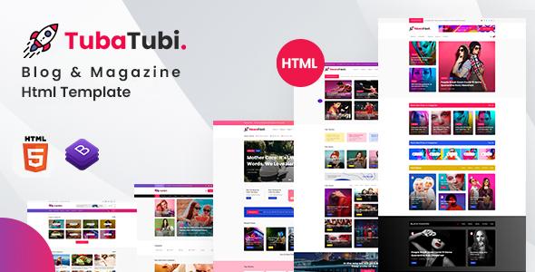 TubaTubi - Blog & Magazine Html Template