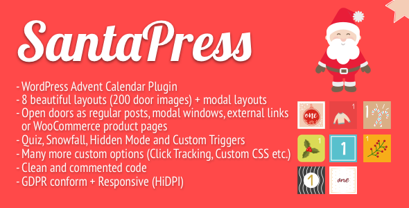 SantaPress - WordPress Advent Calendar Plugin & Quiz