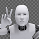 Android Robot Doing The Peace Sign - VideoHive Item for Sale