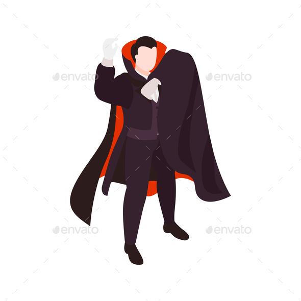 Vampire Halloween Character Composition