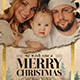 Vintage Merry Christmas Photo Card - GraphicRiver Item for Sale