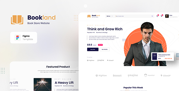 Review: Bookland - Book Store Ecommerce Website Figma Template free download Review: Bookland - Book Store Ecommerce Website Figma Template nulled Review: Bookland - Book Store Ecommerce Website Figma Template