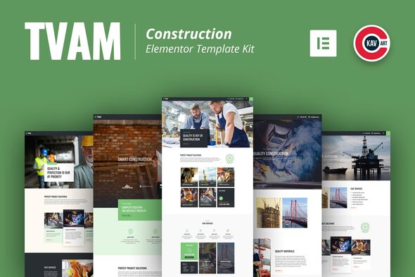 Download Tvam – Construction Elementor Template Kit Nulled