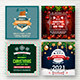 Christmas & New Year Social Media Banners - GraphicRiver Item for Sale