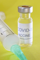 Covid-19 vaccine vial. Coronavirus pandemic infection. Global prevention vaccination - PhotoDune Item for Sale