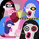 Modern Art Illustration of Four People - GraphicRiver Item for Sale