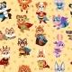 Hero Animals Seamless Pattern Kids Superhero - GraphicRiver Item for Sale