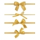 Gift Bows Ribbons Realistic Decorative Golden - GraphicRiver Item for Sale