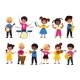 Children Music Orchestra Kids Music Multiracial - GraphicRiver Item for Sale
