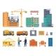 Construction Process Building Site Elements - GraphicRiver Item for Sale
