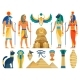 Ancient Egypt Egyptian Culture Symbols and Sign - GraphicRiver Item for Sale