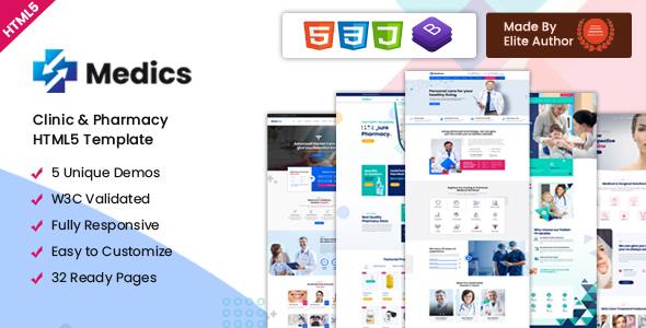 Medics – Clinic & Pharmacy HTML5 Template