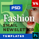5 Fashion Email Newsletter PSD Templates v4 - GraphicRiver Item for Sale