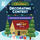 Christmas Decorating Contest Flyer Templates - GraphicRiver Item for Sale