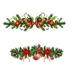 Christmas Holly Brunches Decoration Vector - GraphicRiver Item for Sale