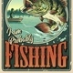 Vintage Colorful Fishing Poster - GraphicRiver Item for Sale