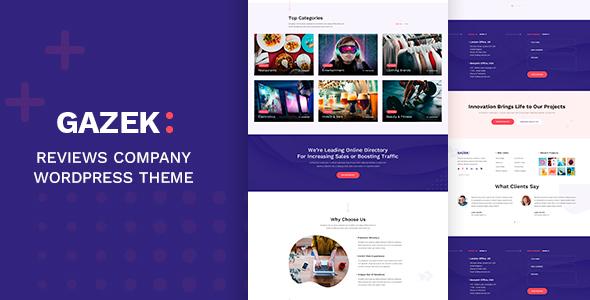Download Gazek – Review WordPress Theme Nulled