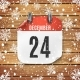December 24 Calendar Icon on Wooden Background - GraphicRiver Item for Sale