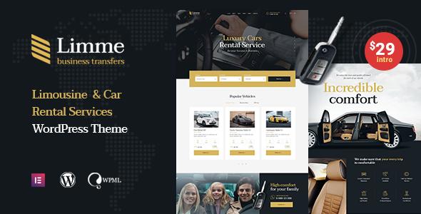 Limme – Limousine Service WordPress Theme