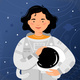 Woman Astronaut Stands on the Background - GraphicRiver Item for Sale