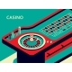 Casino Roulette Table in Isometric Flat Style - GraphicRiver Item for Sale