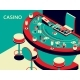 Casino Black Jack Table in Isometric Flat Style - GraphicRiver Item for Sale