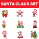 Santa Claus Sticker Set - GraphicRiver Item for Sale