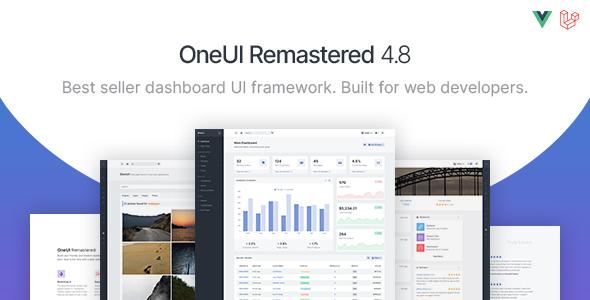 OneUI – Bootstrap 4 Admin Dashboard Template, Vuejs & Laravel 8 Starter Kit