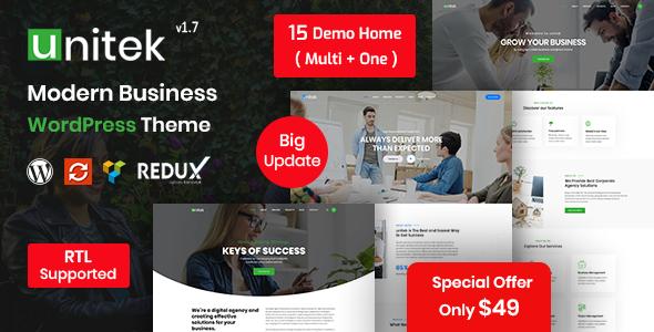 Review: Unitek - Business WordPress Theme free download Review: Unitek - Business WordPress Theme nulled Review: Unitek - Business WordPress Theme
