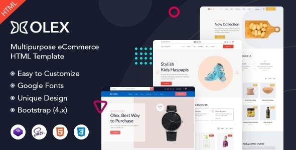 Download Olex – eCommerce HTML Template Nulled