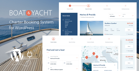 Boat and Yacht Charter Booking System for WordPress