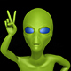 Ufo Alien Showing The Peace Sign (6-Pack) - VideoHive Item for Sale