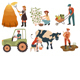 Farmers do Agricultural Work - GraphicRiver Item for Sale