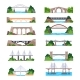 Set of Isolated Modern and Vintage Bridges - GraphicRiver Item for Sale