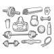 Vector Sketch of Gym, Aerobics, Powerlifting - GraphicRiver Item for Sale