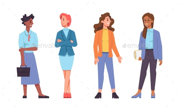 Business Women of Different Races Managers Clients