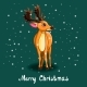 Christmas Greeting Card with Deer and Snow - GraphicRiver Item for Sale