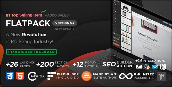 FLATPACK - pakiet stron docelowych z programem budującym strony