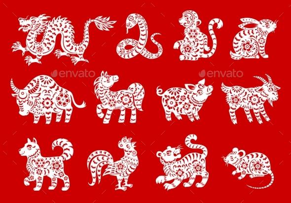 Chinese Horoscope Symbols of Zodiac Animals