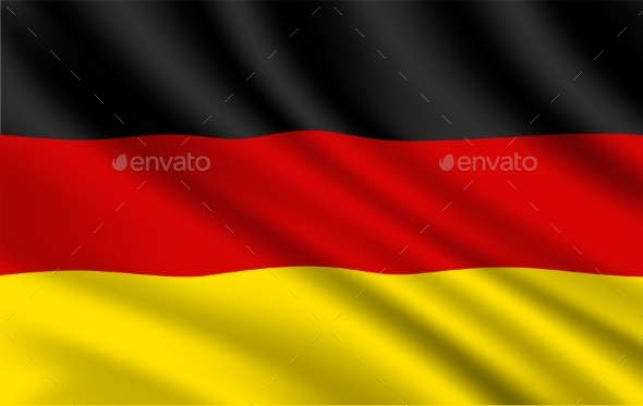 Germany Flag, German National Vector Identity.