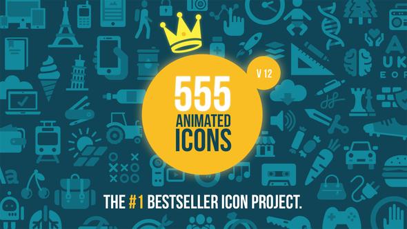 555 Animated Icons