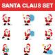 Santa Claus Stickers Set - GraphicRiver Item for Sale