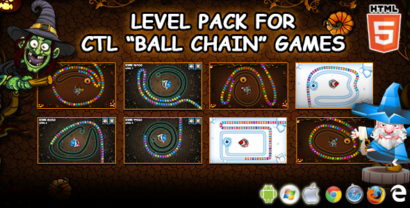 "Extra Levels Pack for CTL ""Ball Chain"" Games"