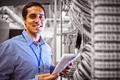 Portrait of technician analyzing server - PhotoDune Item for Sale