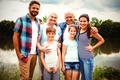 Portrait of happy multi-generation family - PhotoDune Item for Sale