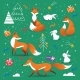 New Year Holidays Background in Nordic - GraphicRiver Item for Sale